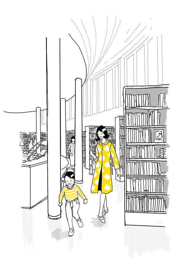 Aalto-tarina: kirjasto