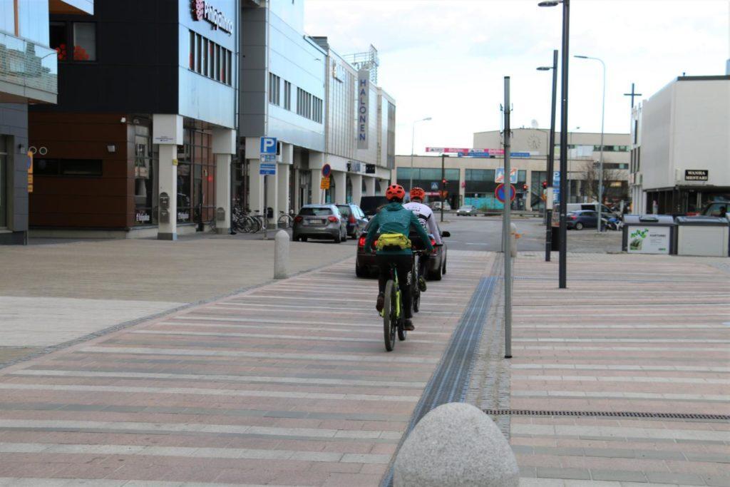 Seinäjoki pyöräily keskustorilla