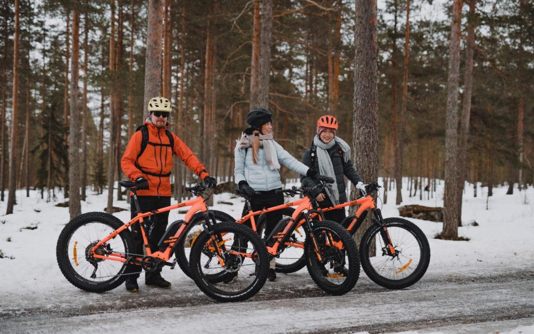 Talvipyöräilyä Seinäjoella